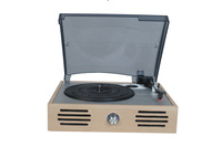 Wooden radio-gramophone antique phonograph big horn old fashioned lp vinyl player record player audio speaker