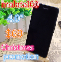 Cheap original Malata I60 Smartphone 4.0 Inch MTK6577 Dual Core Android 4.1 3G WiFi bluetooth  Black white Russion 56 language
