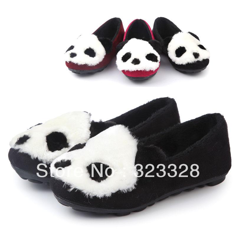 Девочки кроссовки весна осень дети Panda мускулы дети флок подошва нога упаковка обувь размер 21 - 36 принцесса один обувь