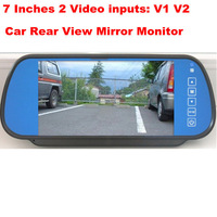 7 Inch Auto Dimming Rearview Mirror Color Digital LCD Monitor  (2 video inputs)