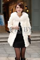 EMS Free Shipping 2013 Natural Rex Rabbit Fur Coat Women Lady Real Fox Fur Collar Overcoat Genuine Rabbit Fur Jackets PC02
