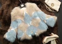 Luxurious Genuine Whole-hide Fox  Fur Outerwear  Fox  Fur Coat Fashion Women Jacket  TP9046