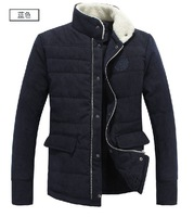 2013 NEW Men winter Pure cotton cotton-padded jacket men leisure fashion warm quality brand standing collar cotton-padded jacket