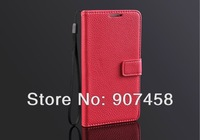 Free Shipping Hot Sales Fashion Lichee Pattern With Support Wallet PU Case For Samsung N9000 Galaxy Note3