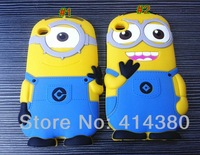 3D Despicable Me 2 Minions Silicone Cover Back Case For iPod Touch 4 4G 4th Free Shipping