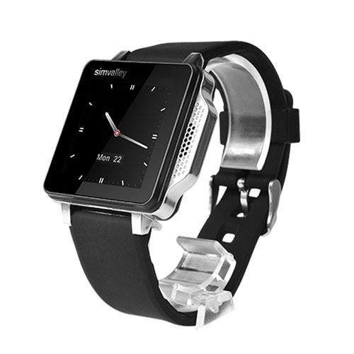 SIMVALLEY PW315 1.54 inch Capacitive Touch Screen Excellent Design Quad Band GSM Bluetooth smart Watch Mobile Phone(China (Mainland))