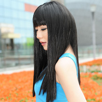 Free Shipping>>>>> Mong kok wig female long straight hair pear repair