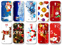Merry Christmas hard case cover skin for S4 I9500 free shipping 10pcs/lot