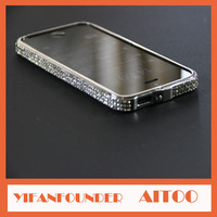Czech Diamond Luxury Diamond Aluminium Bumper Case For iPhone5s Crytal bumper with rhinestone Metal Frame