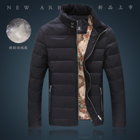 2013 Down jacket Men's winter fashion overcoat mens duck down warm coat stand collar outerwear