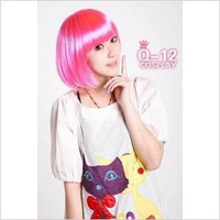 Free Shipping>>>>> Multicolour wig fans bobo bangs qi young girl Pink mini