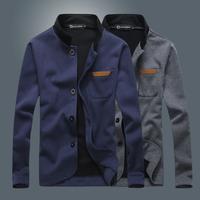 new style Mens fashion Hoodies cardigan men's casual stand collar jacket coat men suit design 4 colors