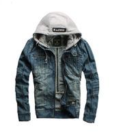 Autumn and winter g denim jacket star male denim clothes slim retro finishing coat