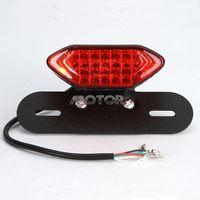 Motorcycle LED Plate Holder Tail Light Brake Custom License dual sport