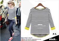 2013 new arrival Europe street fashion style shirt all match lady shirt  basic shirt 3221