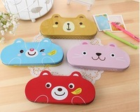 Small fresh stationery animal tin pencil case