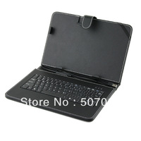 Black Leather Case with USB Interface Keyboard for 10 inch MID Tablet PC free shipping