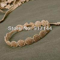 High Quality Golden Ribbon Mars Shape Italy Lace Wrap Bracelets Jewelry 50PCS/LOT Free Shipping