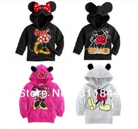 1pcs Boys Girls Long Sleeve Hoodies Mickey Minnie Mouse Cartoon Top Kids T Shirts For 2-6yrs Children's Outwear Fall Clothing