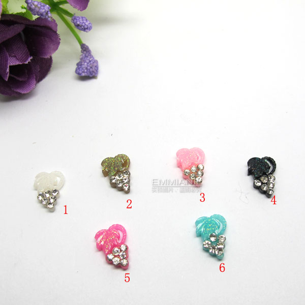 2014 Hot Sale Limited Freeshipping Nail Art Resin Flower Accessories Finger Decoration Supplies Putaohua Pattern Diamond Tools(China (Mainland))