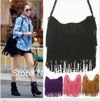 2013 European and American style one shoulder  tassel Nylon bags handbag wholesale