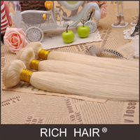 Light blonde virgin hair bestselling 613# silky straight peruvian 100% unprocessed AAAAA Grade human hair extension