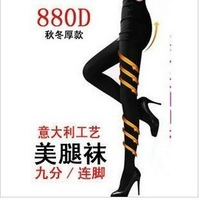 Fat burning women's legging pantyhose stockings spring and autumn 680d thin legs socks slimming socks