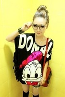 898 2012 paillette donald duck tassel long t-shirt