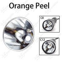 5pcs/lot UltraFire C8 C12 XM-L T6 U2 U3 L2 LED Flashlight Orange Peel Reflector OP Aluminum Reflector