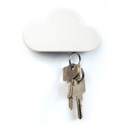 White Cloud Keyholder Magnet Clouds Key Storage Device Key Hang Creative Valentine Day Gift