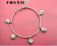 Free Shipping Handmade Vintage national accessories tibetan Tibet silver women's bracelet X'mas gift