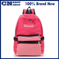 free shipping 2013 preppy style female backpack canvas backpack student school bag casual double-shoulder back