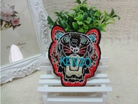 Free Shipping~Embroidered  tiger head ken Sew on or Iron On Patch~ Wholesale DIY accessory Applique Badge