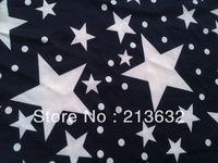 purplish blue print stars prints textile curtain mulberry Spot Roman cloth fabric royalblue stretch printed star knitted fabric