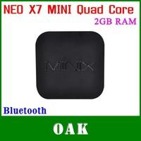 Free Shipping  -MINIX NEO X7 MINI RK3188 Quad Core Android TV Box  2GB DDR3+8GB ROM Support Bluetooth/WiFi with Remote