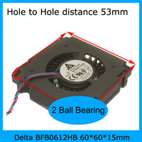Delta BFB0612HB 60*60*15mm DC12V 0.32A Cooling DC Fan,high accuracy,  double ball bearing