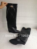 2013 Wholesale hot selling top leather Italian design women boots free shipping knee high boots dropship size 35-42