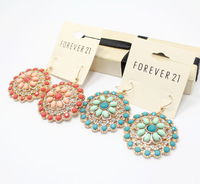 Fashion cutout flower beautiful earrings