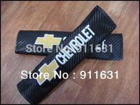 Car Seat Belt 1pair=2pcs Shoulder Pad Truck  Belt Cover for Chevrolet  (All Car Model)  Auto Carbon Cloth Car Accessories