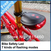 Bicycle Laser Tail Light Waterproof 2 Lasers + 5 LED Mountain Bike Safety  Back Rear warning Red Light Bike Flashlights