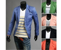 Autumn - Winter Men's fashion loose suit. Pure color business suit jacket blazers for men 5colors M-L-XL-XXL.Free shipping