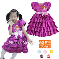 Newest Sophia Girls Dresses Baby Girl's Short Sleeve Dress Children's Sress Skirts 5pcs/lot free shipping