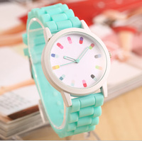 New Arrivals Geneva Women Quartz Dress Watch Military men Silicone Unisex Wristwatch Jelly watch