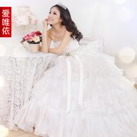 Love bride wedding formal dress lace tube top 2013 wedding sweet princess wedding dress