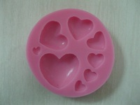 Free Shipping New Arrival many love shaped 3D silicone cake fondant mold, cake decoration tools, soap, candle moulds