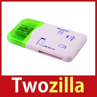 [Twozilla] High Speed All in One USB Flash Memory Card Reader TF SDHC SD miniSD #25 Hot