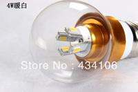 Free shipping 2pcs/lot Led bulb light E27 led energy-saving glass lampshade ultra bright 3 w 4w 5w restoring ancient ways light