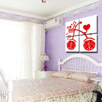Frameless painting technology wood painting carved the murals hs13033