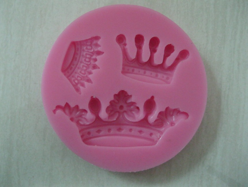 Free Shipping New Arrival imperial crown shaped 3D silicone cake fondant mold, cake decoration tools, soap, candle moulds(China (Mainland))