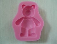Free shipping  Cute Lovely bear shaped cake decorating mold tools Chocolate Candy Jello 3D Mold Mould Cartoon Figure/cake tools